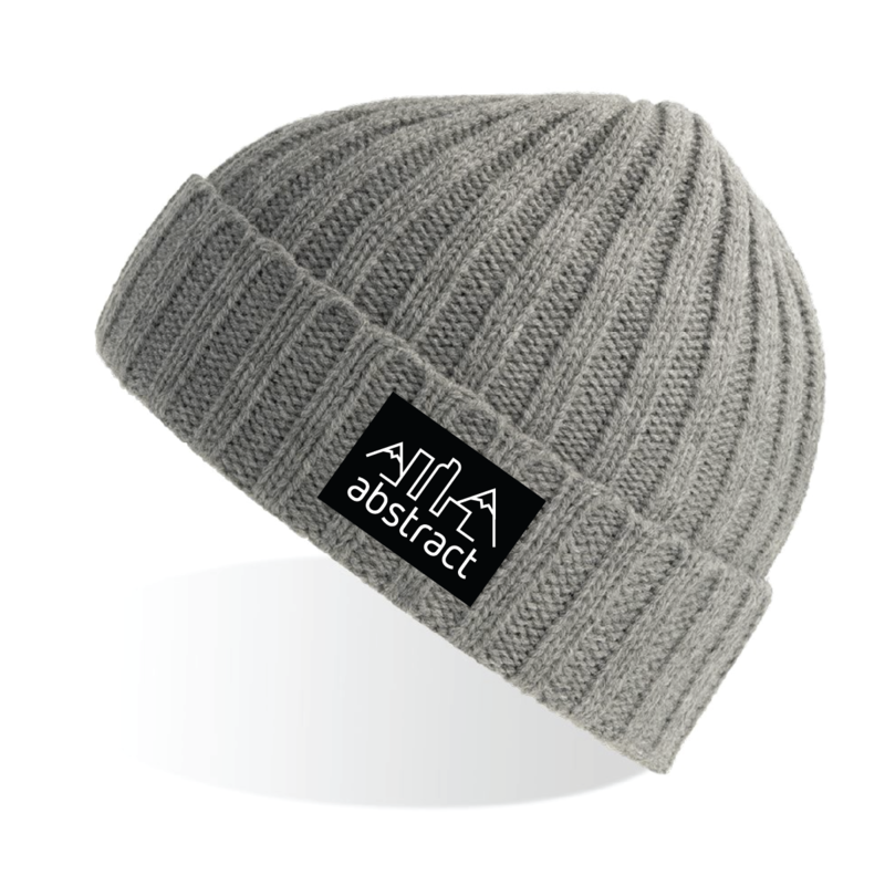 Abstract Logo Cable Knit Beanie