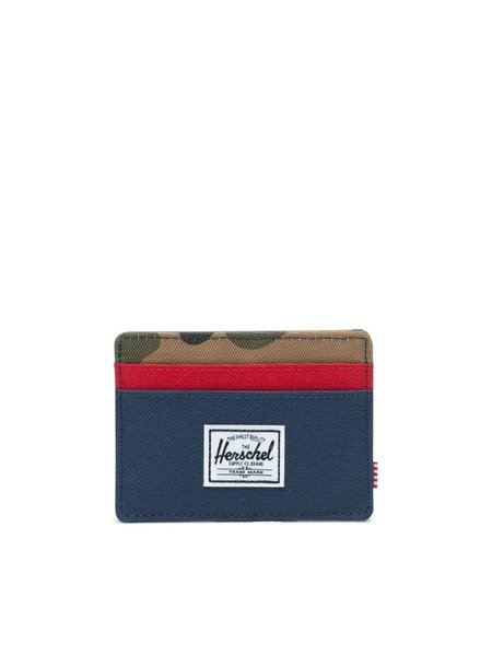 Herschel Charlie Wallet Navy/Red/Woodland Camo