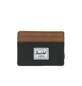 Charlie Wallet Black/Saddle Brown