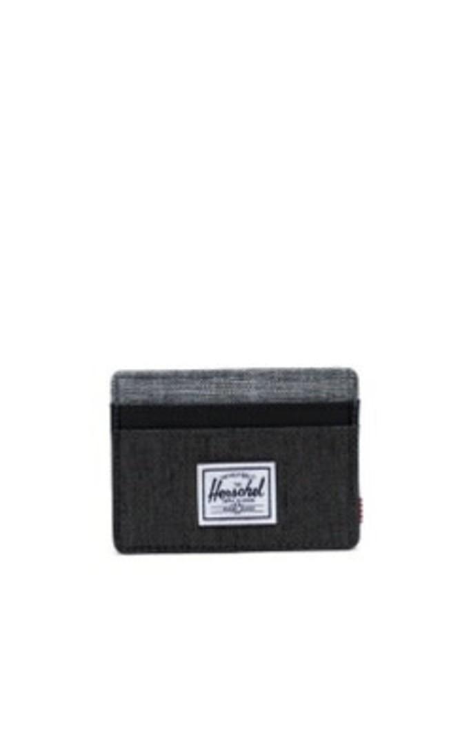 Herschel Charlie RFID Black Crosshatch/Black/Raven Crosshatch