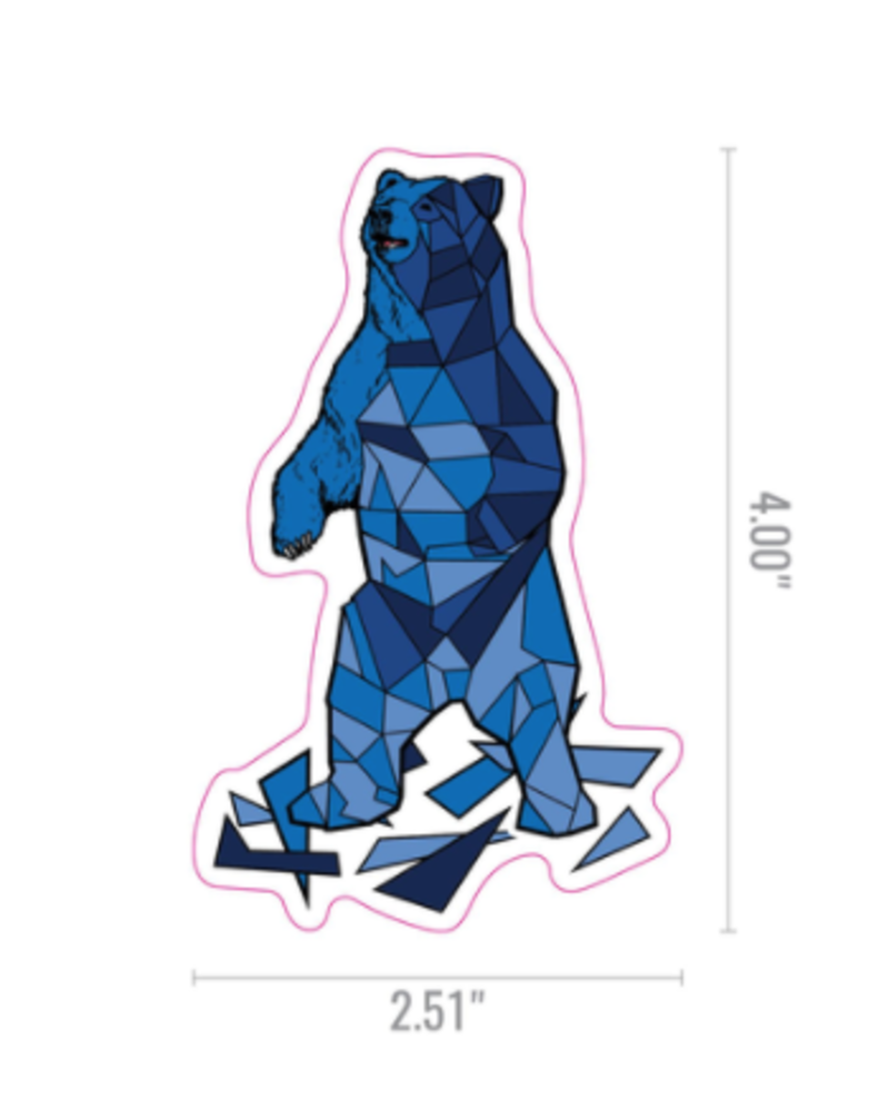 Geo Bear Sticker