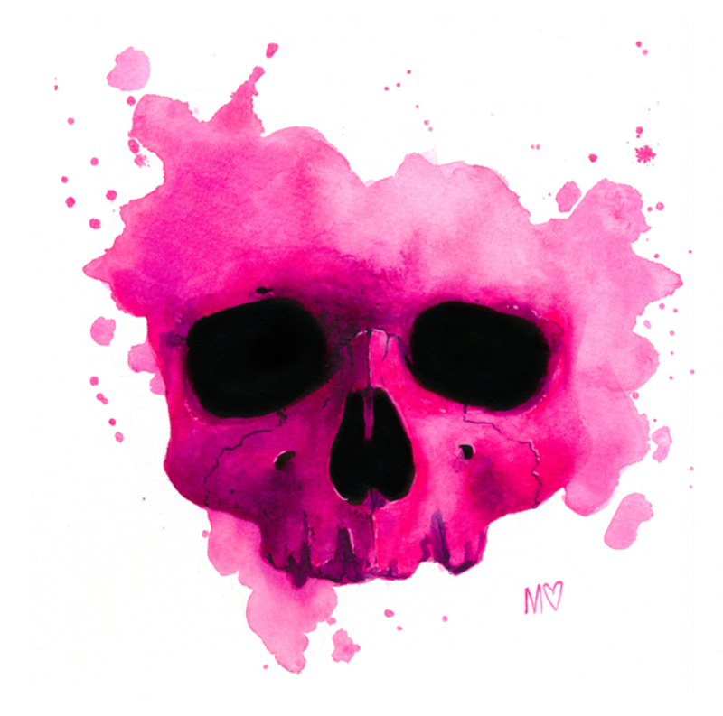 Mallory Hart Rainbow Skull Print Series
