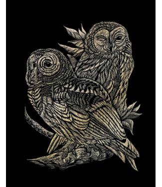 Royal & Langnickel GOLD ENGRAVING OWLS