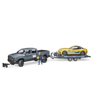 Bruder RAM 2500 Power Wagon w BRUDER Roadster Racing Team