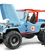 Jeep Cross Country racer blue with driver