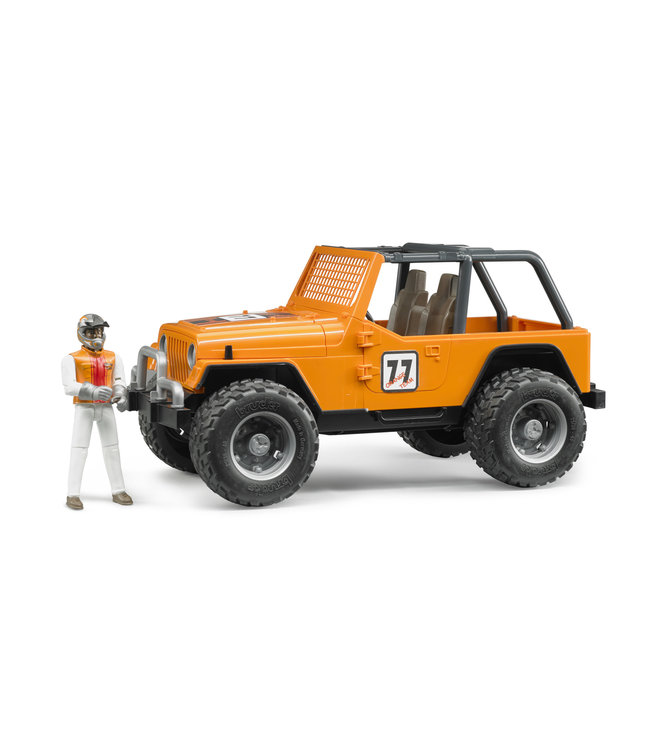 Bruder Jeep Cross Country racer orange with driver