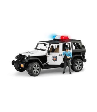 Bruder Jeep Rubicon Police car + light skin Policem