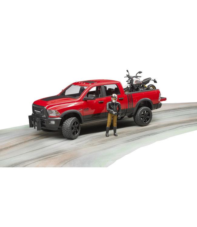 Bruder RAM 2500 Power Wagon w Scrampler Ducati Desert Sied
