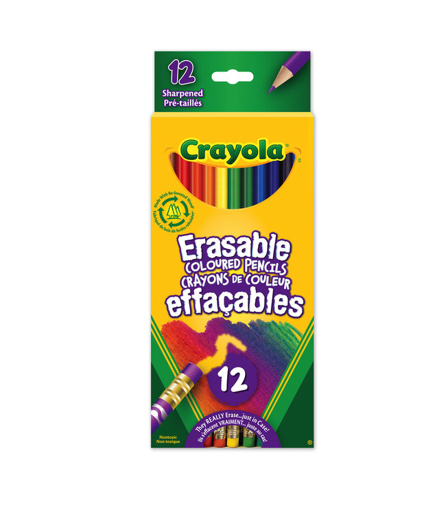 Crayola Pencils 12ct Erasable