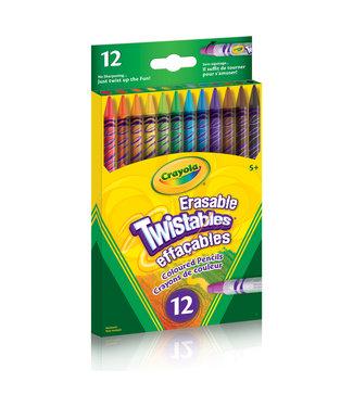 Crayola PENCILS,12CT,ERAS,TWIST,COL.