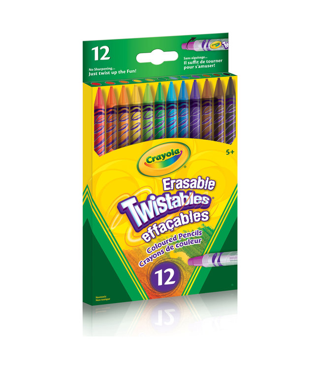 Crayola PENCILS,12CT,ERAS,TWIST,COL.