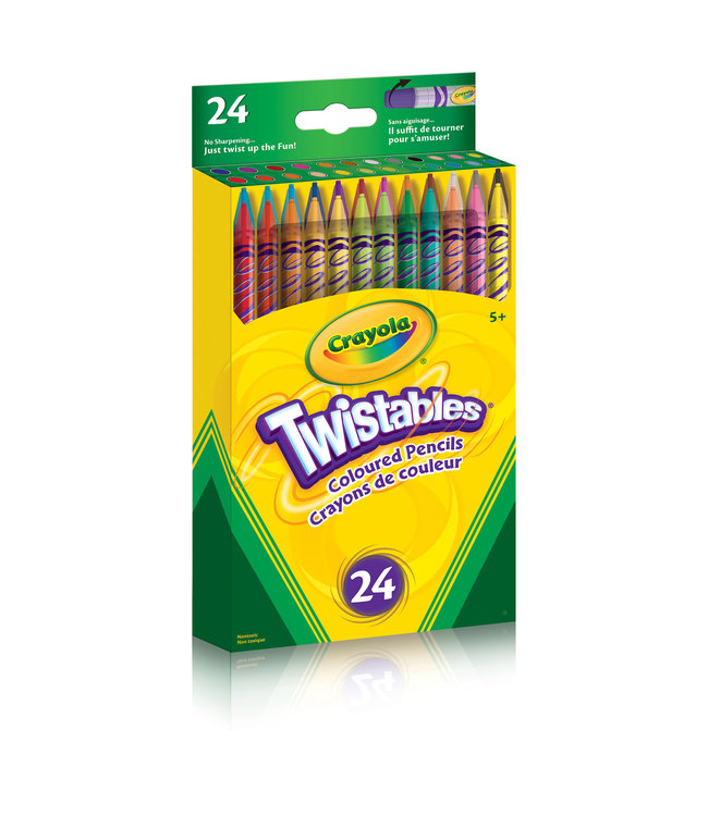 Crayola PENCILS,24CT,TWIST,COL,BOXED