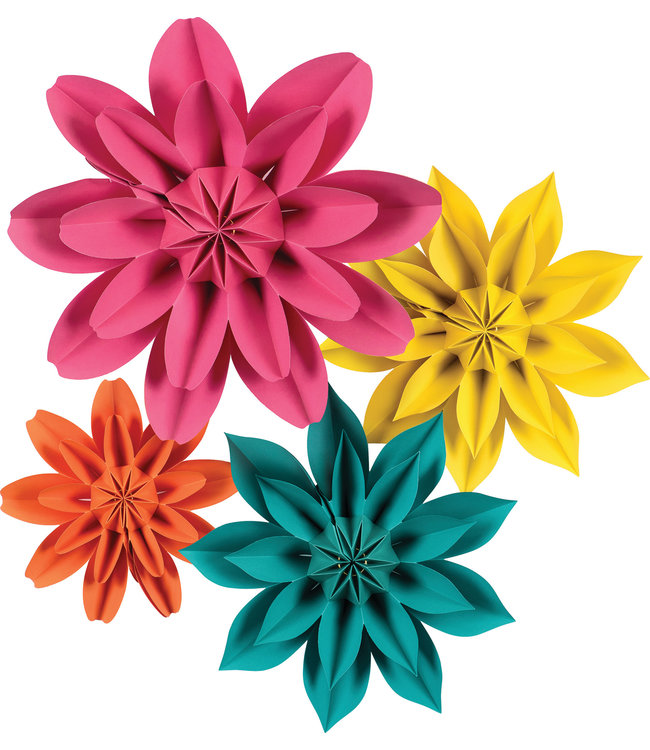 Teacher Created Resources Beautiful Brights Paper Flowers