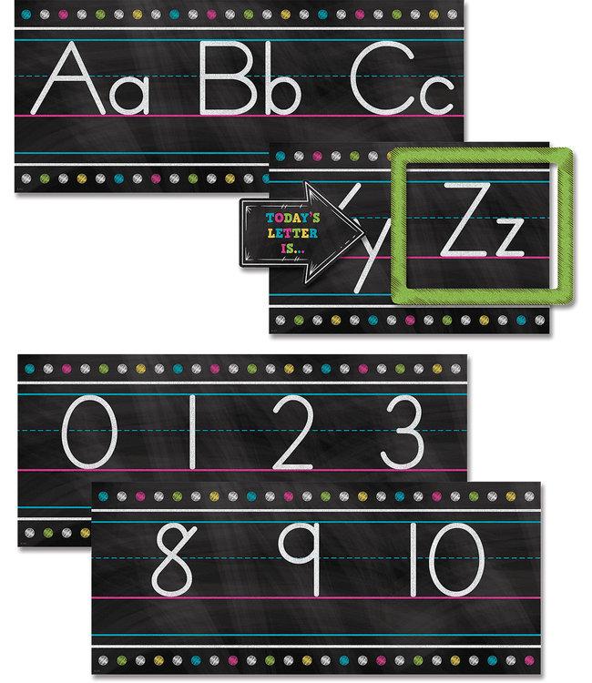 Teacher Created Resources Chalkboard Brights Alphabet Line Bulletin Board