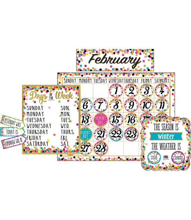 Teacher Created Resources Confetti Calendar Bulletin Board