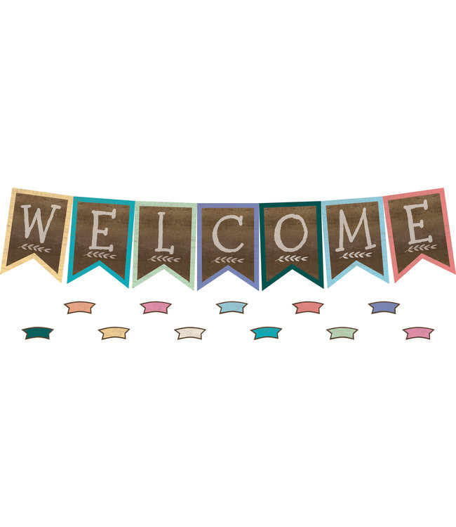 Teacher Created Resources Home Sweet Classroom Pennants Welcome Bulletin Board
