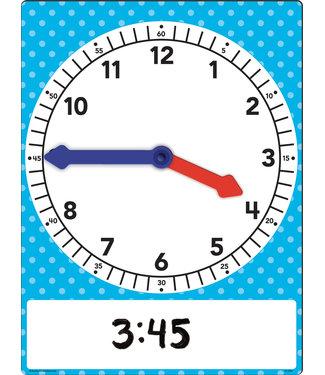 Teacher Created Resources Magnetic Foam Geared Clock: Large