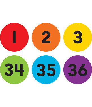 Teacher Created Resources Spot On Numbers 1-36 Carpet Markers - 4