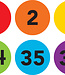 Spot On Numbers 1-36 Carpet Markers - 4