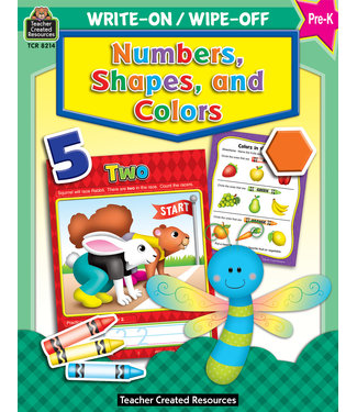 Teacher Created Resources Write-On/Wipe-Off: Numbers, Shapes, and Colors