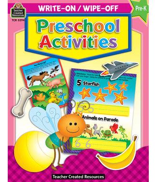 Teacher Created Resources Write-On/Wipe-Off:Preschool Activities