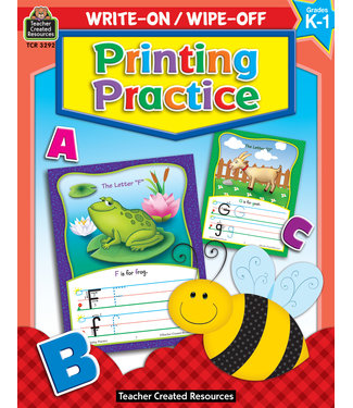 Teacher Created Resources Write-On/Wipe-Off: Printing Practice