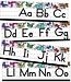 Alphabet Line: Manuscript Mini Bulletin Board