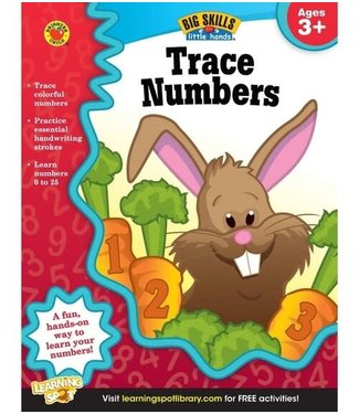 Brighter Child Big Skills for Little Hands: Trace Numbers (Ages 3+) Book