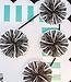 Black & White Poms Colorful Cut-Outs® (Single Design)