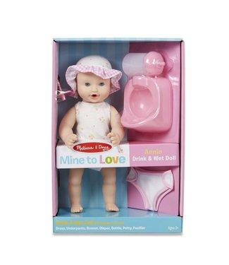 """Melissa & Doug Annie - 12"""" Drink & Wet Doll"""