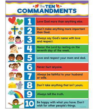 Carson Dellosa The Ten Commandments Chart