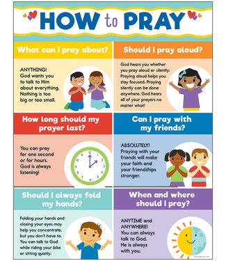 Carson Dellosa How to Pray Chart