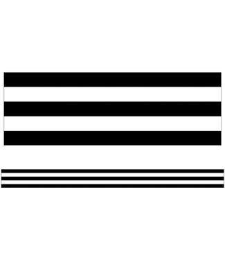 Carson Dellosa Black & White Stripes Straight Borders