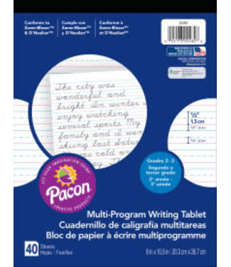 Pacon Multi Program Writing Tablet