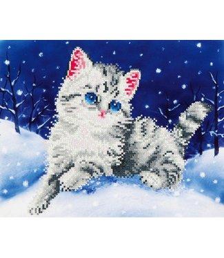Diamond Dots Diamond Dotz - Kitten in the Snow