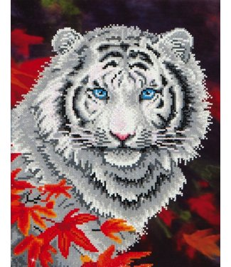 Diamond Dots Diamond Dotz - White Tiger in Autumn