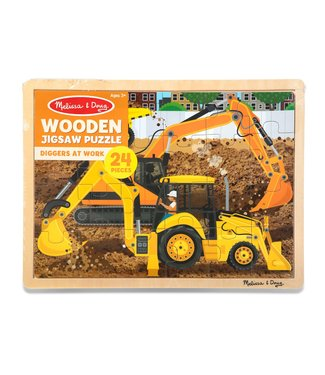 Melissa & Doug Diggers at Work Jigsaw 24pc