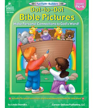 Carson Dellosa Dot-to-Dot Bible Pictures (PK - K) Book