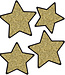 Solid Gold Glitter Stars Colorful Cut-Outs (Assorted)