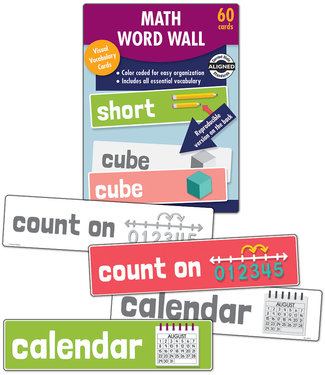 Carson Dellosa Math Word Wall, Grade K