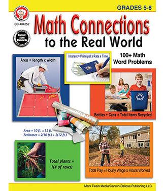 Carson Dellosa Math Connections to the Real World (5-8) Book (Mark Twain)