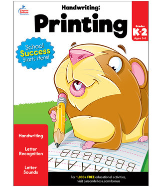 Brighter Child Handwriting: Printing Workbook Grade K-2