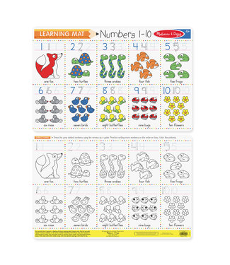 Melissa & Doug Numbers 1-10 Write-A-Mat single