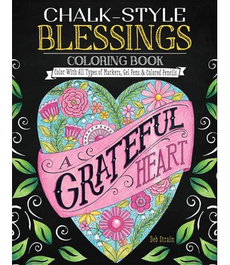 CHALK-STYLE BLESSINGS COLORING