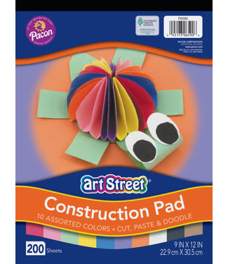Art Street CONSTRUCTION PAD  9X12 ASST CT200