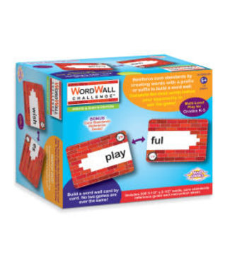 "Mind Sparks® Mind Sparks® WordWall Challenge™ Card Game, Prefixes & Suffixes, 3-1/2"" x 2-1/2"", 300 Cards"