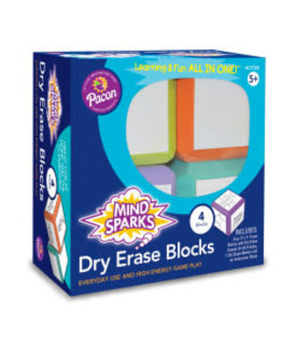 Mind Sparks® WRITE ON- WIPE OFF BLOCK GAME 4CT