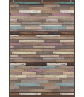Teacher Created Resources Reclaimed Wood Large 6 Pocket Chart