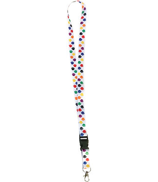 Teacher Created Resources Colorful Paw Prints Lanyard
