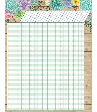 Teacher Created Resources Rustic Bloom Incentive Chart
